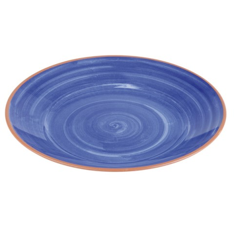 Plate LA VIDA Ø32cm/height3,5cm MELAMIN blue - 1pc.