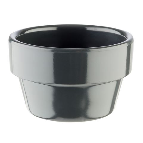Bowl FLOWER POT ∅6cm/height3,5cm MELAMIN anthrazit - 1pc.