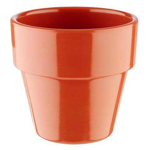 Bowl FLOWER POT ∅9cm/height8,5cm MELAMIN terracotta - 1pc.