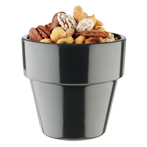 Bowl FLOWER POT ∅9cm/height8,5cm MELAMIN anthrazit - 1pc.