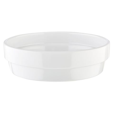 Bowl FLOWER POT ∅12cm/height3,5cm MELAMIN white - 1pc.