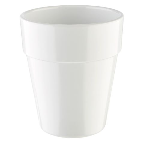 Bowl FLOWER POT ∅13cm/height15cm MELAMIN white - 1pc.