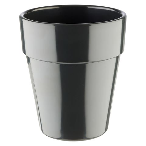 Bowl FLOWER POT ∅13cm/height15cm MELAMIN anthrazit - 1pc.