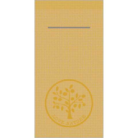 Pocket Napkins LOVE NATURE JUTE 1/8Fold LINCLASS brown - 300pcs.