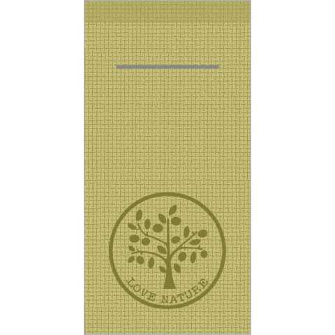 Pocket Napkins LOVE NATURE JUTE 1/8Fold LINCLASS oliv - 300pcs.
