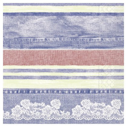 JEANY Napkins 40x40cm TISSUE blue/red - 1200pcs.