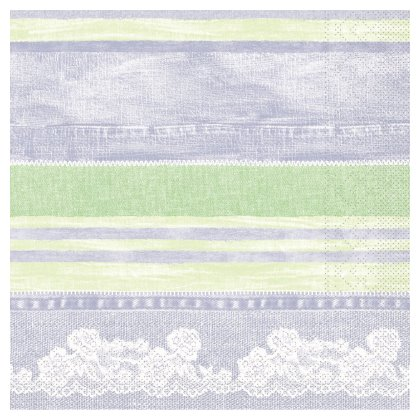 JEANY Napkins 40x40cm TISSUE grey/green - 1200pcs.