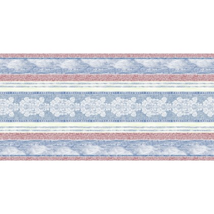 JEANY Table Runners 40cmx24lfm AIRLAID blue/red - 4pcs.