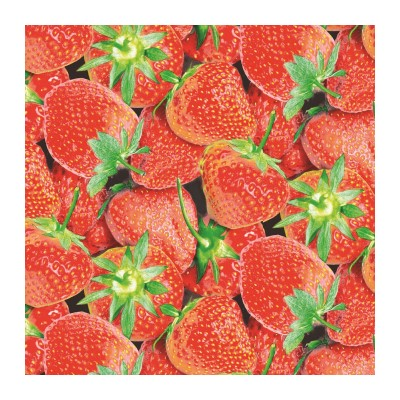 STRAWBERRY Servietten 25x25cm TISSUE rot - 1000Stk.