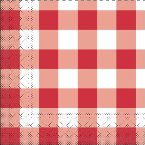 DIAMONDS Napkins 33x33cm 1/4fold TISSUE red/white - 600pcs.