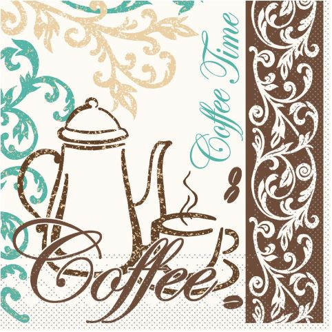 TEA/COFFEE Servietten 33x33cm 1/4Falz TISSUE - 800Stk.