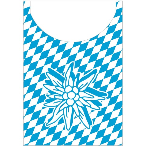BAYERN Ice/Snack Napkins 22x19cm AIRLAID blue/white - 600pcs.