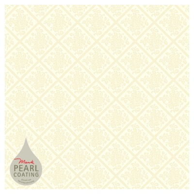 DAMAST Table Cloths 80x80cm PEARL COATING champagne - 45pcs.