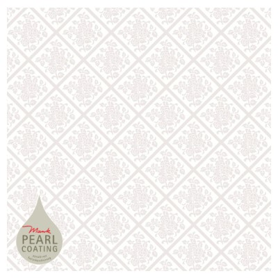 DAMAST Table Cloths 80x80cm PEARL COATING white - 45pcs.