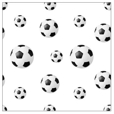 FOOTBALL Table Cloths 80x80cm Linclass-AIRLAID white - 60pcs.