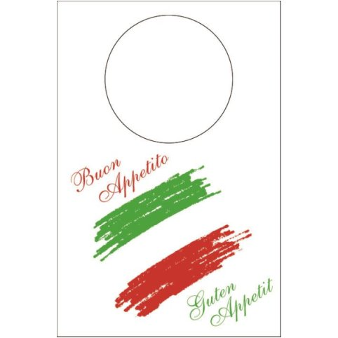 ITALIA Bibs 42x60cm NONWOVEN white/red/green - 200pcs.