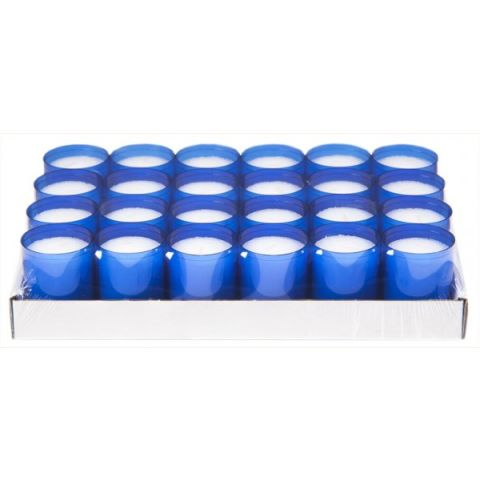 REFILL-Cups Candles BurningTime 24h 1x24Tray blue - 24pcs.