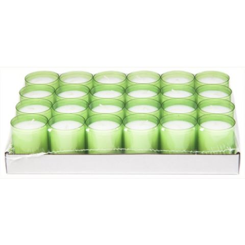 REFILL-Cups Candles BurningTime 24h 1x24Tray kiwi -24pcs.