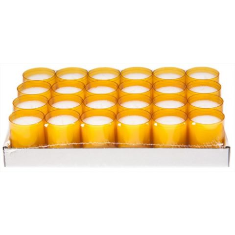 REFILL-Cups Candles BurningTime 24h 1x24Tray orange - 24pcs.
