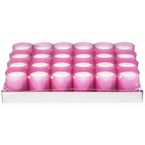 REFILL-Cups Candles BurningTime 24h 1x24Tray pink - 24pcs.