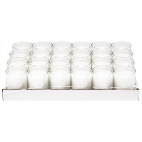 REFILL-Cups Candles BurningTime24h 1x24Tray transparent - 24pcs.