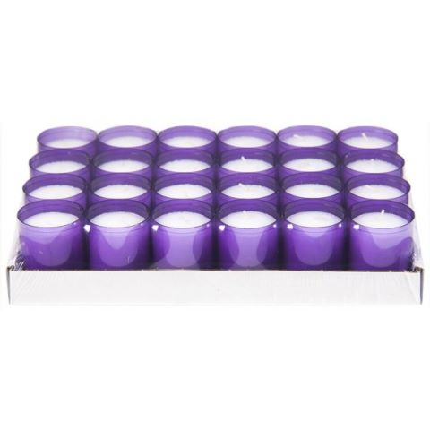 REFILL-Cups Candles BurningTime24h 1x24Tray purple - 24pcs.