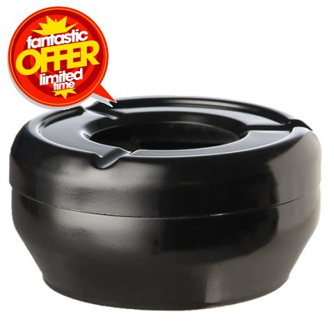Ashtray CASUAL Ø10cm/height4cm MELAMIN black - 1pc.