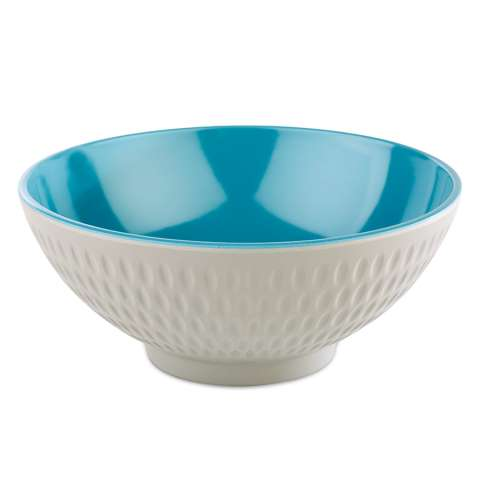Bowl ASIA+ Ø16cm/height7cm MELAMIN white/blue - 1pc.