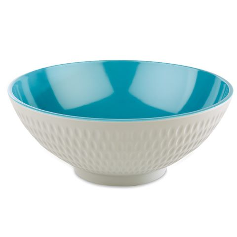 Bowl ASIA+ Ø20cm/height8cm MELAMIN white/blue - 1pc.