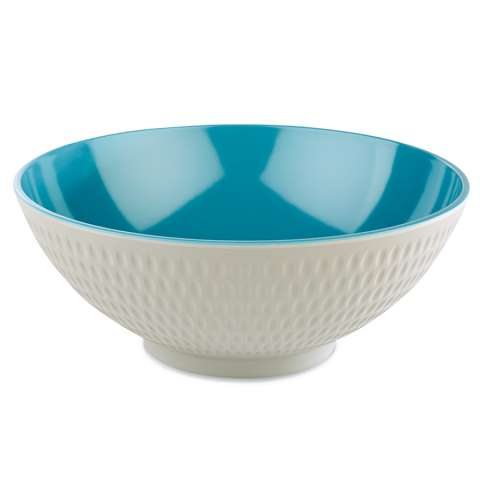 Bowl ASIA+ Ø24cm/height9,5cm MELAMIN white/blue - 1pc.