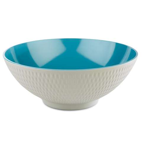 Bowl ASIA+ Ø32,5cm/height12,5cm MELAMIN white/blue - 1pc.