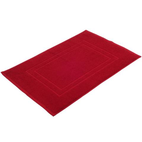 Bath Mat SYLT TerryCloth 50x70cm COTTON bordeaux- 2pcs.
