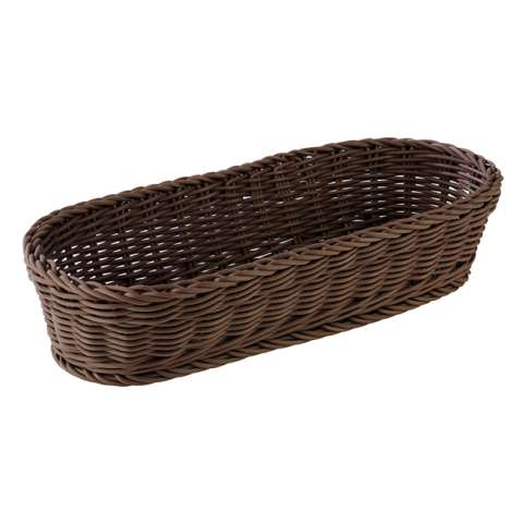 Baguette Basket 40x16cm/height8cm PP-Plastic brown - 1pc.