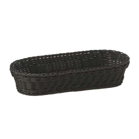 Baguette Basket 28x16cm/height8cm PP-Plastic black - 1pc.