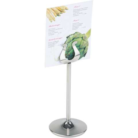 Menu Stand Ø7,5cm/height18,5cm Stainless Steel - 1pc.