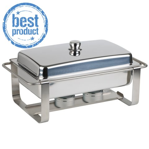 ChafingDish CATERER PRO 9ltr 64x35cm/h34cm STAINLESS STEEL - 1pc