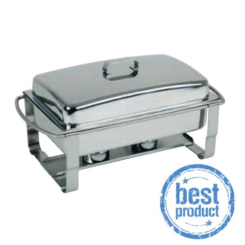 ChafingDish CATERER 9ltr. 67x35cm/height35cm STAINLESS STEEL 1pc