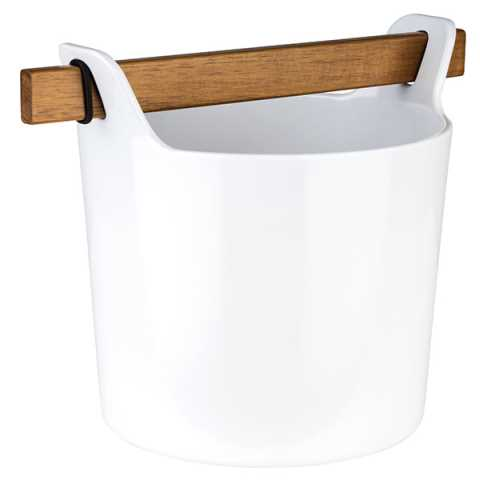 Cutlery Bin with Handle 23,5x17cm/height18cm Melamin white - 1pc
