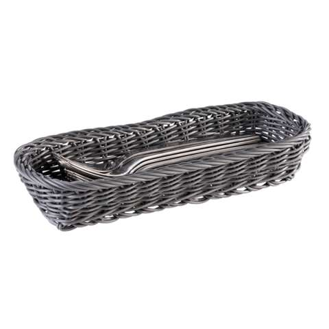 Cutlery Basket 27x10cm/height4,5cm PP-Plastic anthrazit - 1pc.