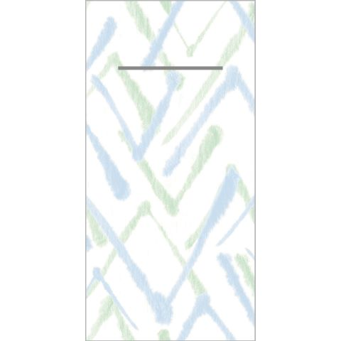 ZACK Pocket Napkins 1/8fold LINCLASS green/blue - 300pcs.