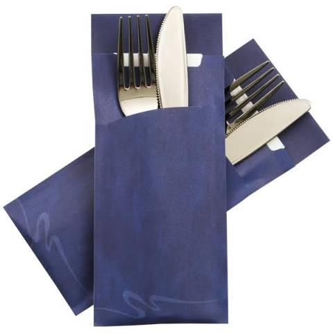 POCHETTO Cutlery bags including a Napkin 20x8,5cm blue - 520pcs.