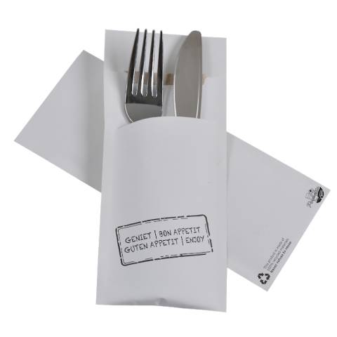 POCHETTO Cutlery bags including a Napkin 20x8,5cm ECO I - 520pcs