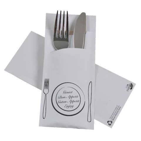 POCHETTO Cutlery bags including a Napkin 20x8,5cm ECO II - 520pc