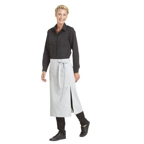 Bistro Apron DELUXE 80x125cm Polyester/Cotton silver grey - 1pc.