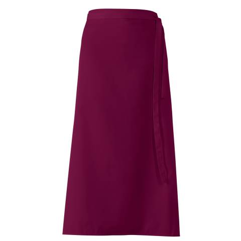 Bistro Apron DELUXE 100x100cm Polyester/Cotton bordeaux - 1pc.