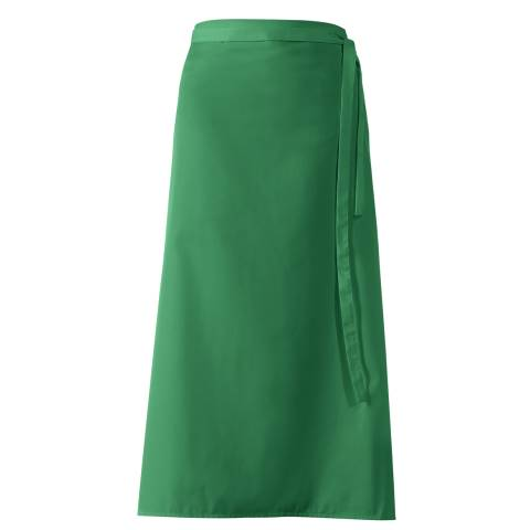 Bistro Apron DELUXE 100x100cm Polyester/Cotton green - 1pc.