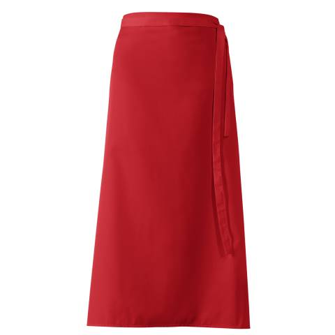 Bistro Apron DELUXE 100x100cm Polyester/Cotton red- 1pc.
