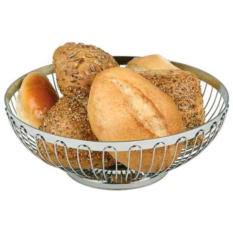Basket for Bread or Fruits Ø17,5cm/height7cm Stainless Steel - 1