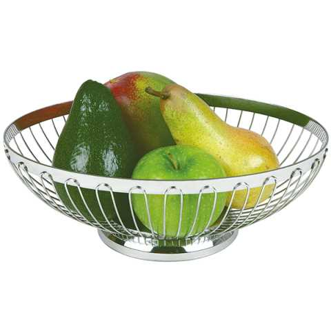 Basket for Bread or Fruits 20x15cm/height7cm StainlessSteel 1pc.