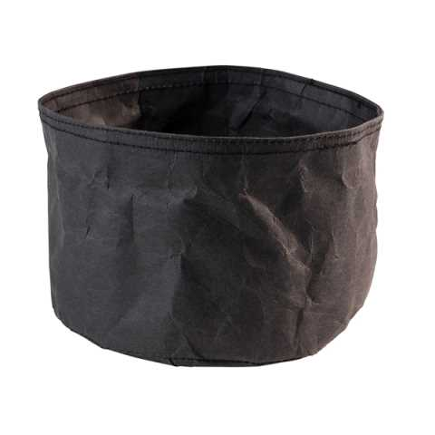 Bread Basket PAPERBAG Ø17cm/height11cm PAPER black - 1pc.